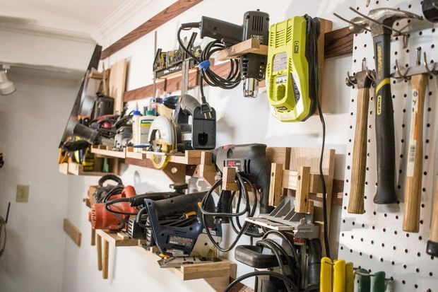 Photo of French Cleat Workshop Organization