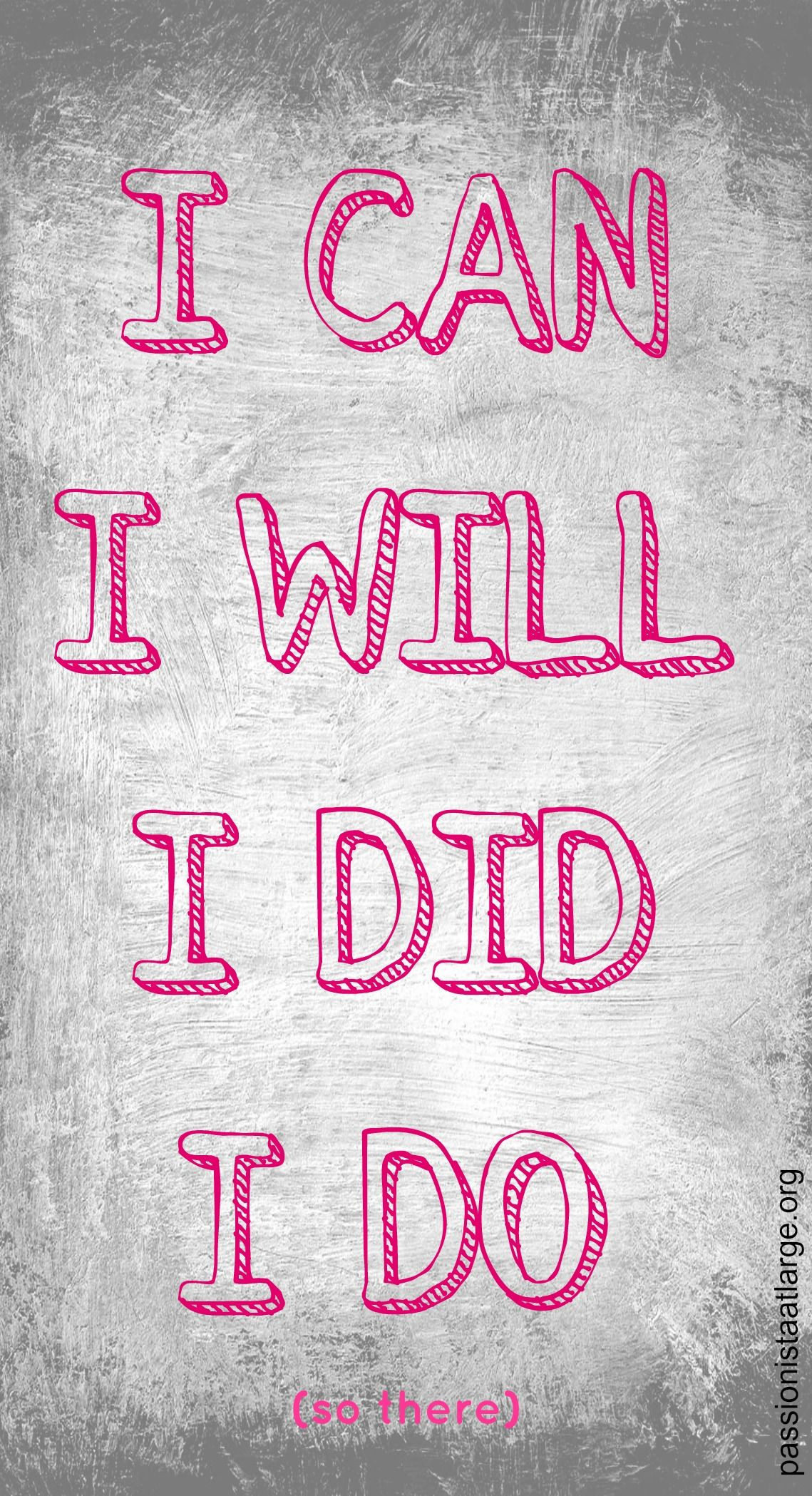 I Can I Will I Did I Do Positivity Greeting Card Women