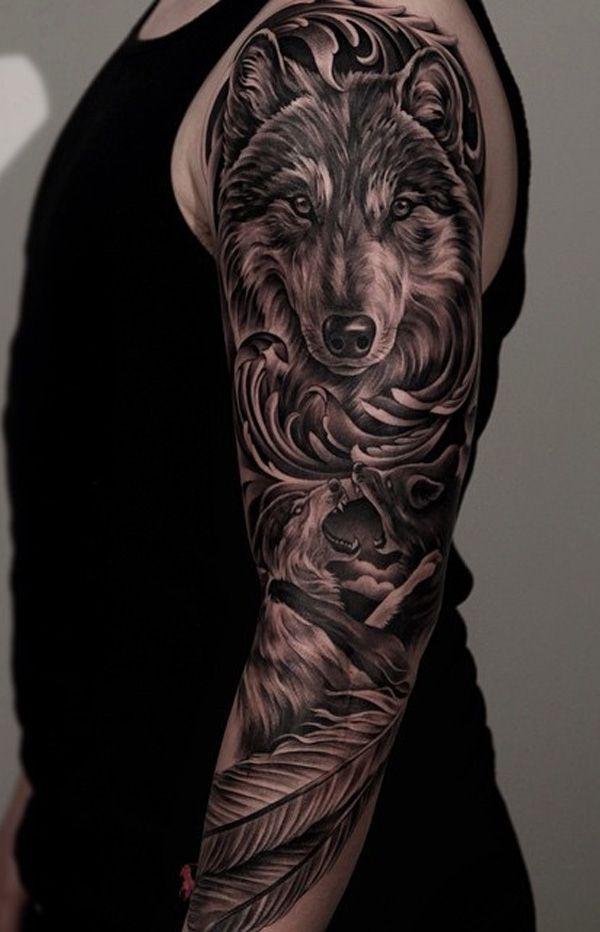 48 Powerful Wolf Tattoo Designs Tribal Traditional Lone Wolf Tattoos Wolf Tattoo Sleeve Tattoo Sleeve Designs Wolf Tattoos