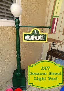 Sesame street light post diy sesame pinterest light posts sesame street light post diy aloadofball Image collections