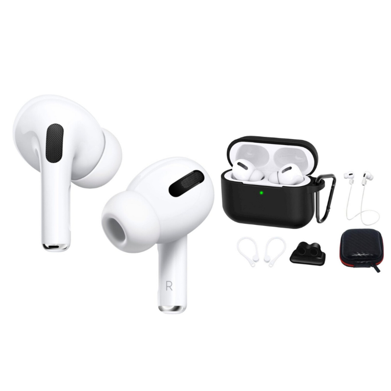 Package Apple Airpods Pro White And Saharacase Case Kit Black Active Noise Cancellation Apple Noise Cancelling