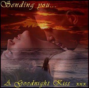A Goodnight Kiss Good Night Lover Good Night Couple