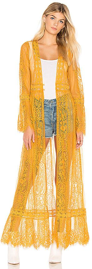3468a2800 Band of Gypsies Lace Bell Sleeve Duster | Fashion Frenzy in 2019 ...