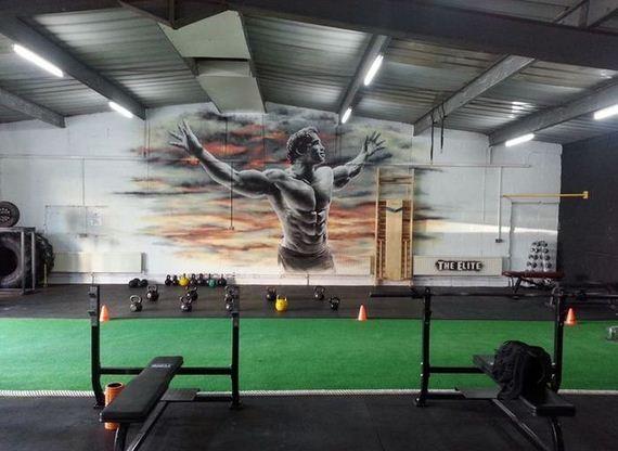 Very Cool Gym Mural Of Arnold Arquitetura De Academia Ginasio