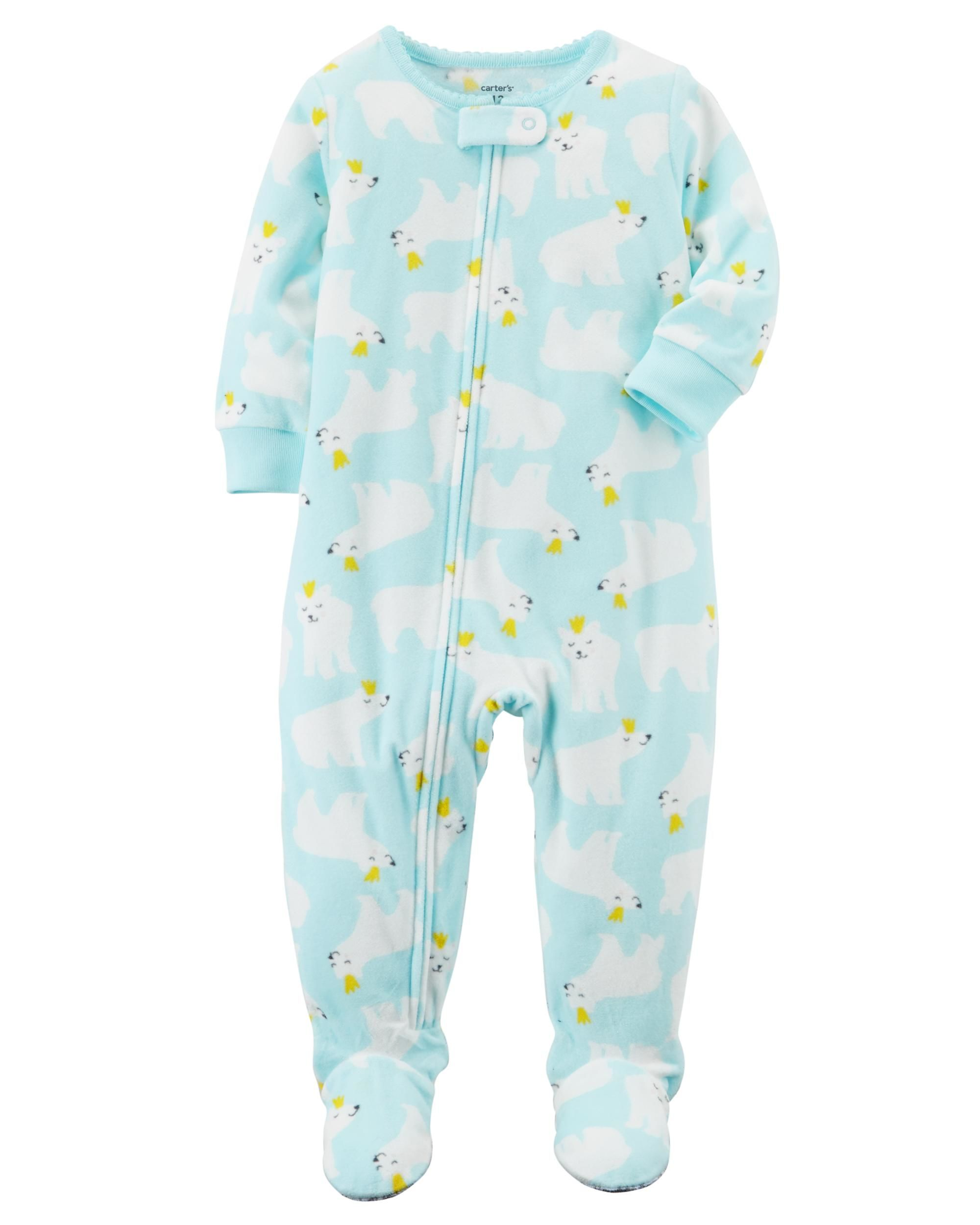 8916c2b0e 1-Piece Polar Bear Fleece PJs