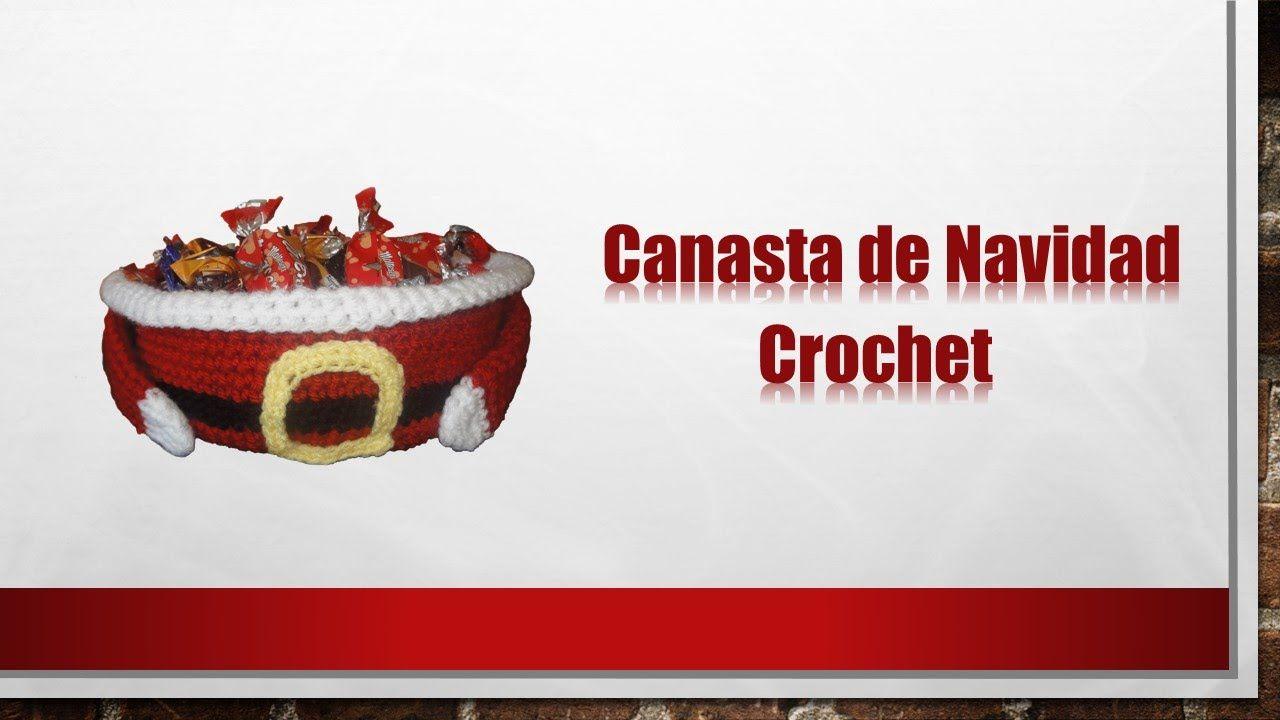 Canasta Papa Noel tejida a crochet para navidad   sueños e iluciones ...