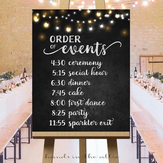 Order Of Events Timeline Sign Printable Wedding Day Schedule Etsy In 2020 Wedding Day Schedule Order Of Wedding Ceremony Wedding Day Timeline
