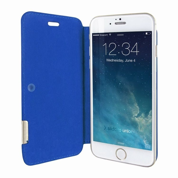 Piel frama iphone 6 6s framaslim leather case blue