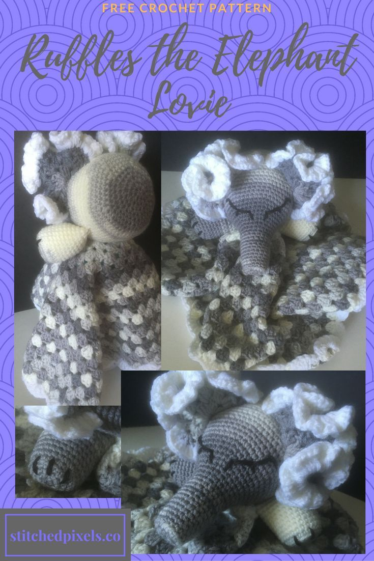 Free Crochet Pattern Baby Lovey, Plushie, perfect shower gift ...