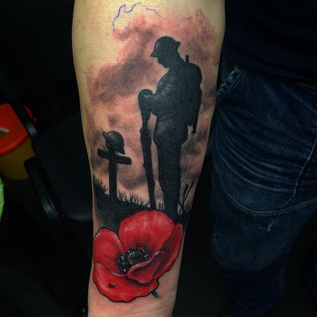 f3e68c2b3 Army Tattoos, Military Tattoos, British Army Tattoo, Poppy Tattoo Sleeve,  Sleeve Tattoos