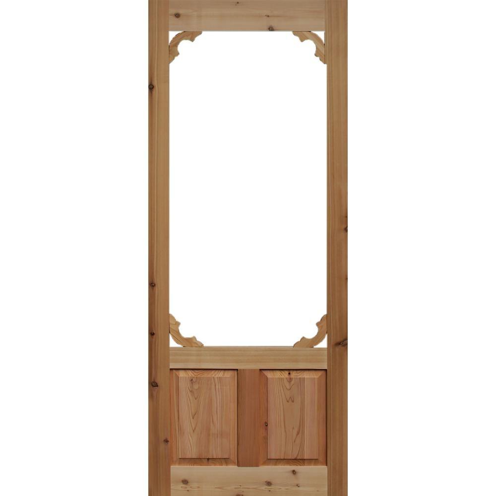 Woodland Cedar Screen Door, Natural