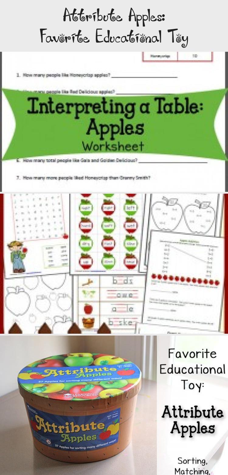 Free Apple Worksheets for KindergartenFirst Grade