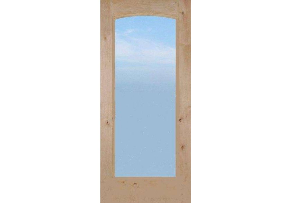 Knotty Alder 1 Lite French Door With Arched Dual Pane Clear Glass 1 3 4 French Doors Interior Design Website Exterior Entry Doors
