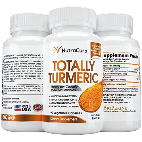 nutracura turmeric curcumin with bioperine joint pain relief reduce chronic inflammation improve memory 15x strength 90 x 750 milligram capsules 3 months