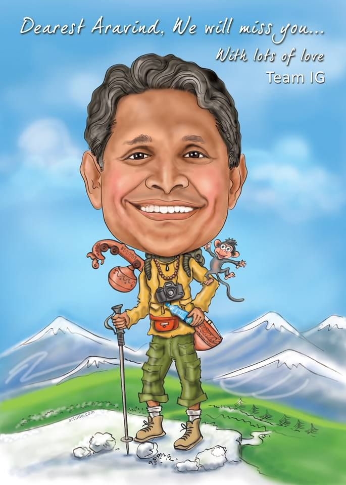 Customized Caricature done for CISCO Bangalore for athe farewell party of Mr.Aravind.