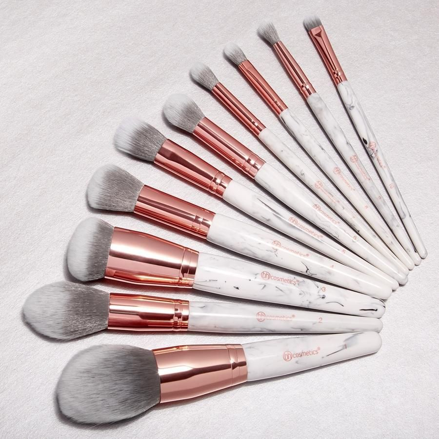 Marble Luxe Makeup brush set, Beauty makeup, It