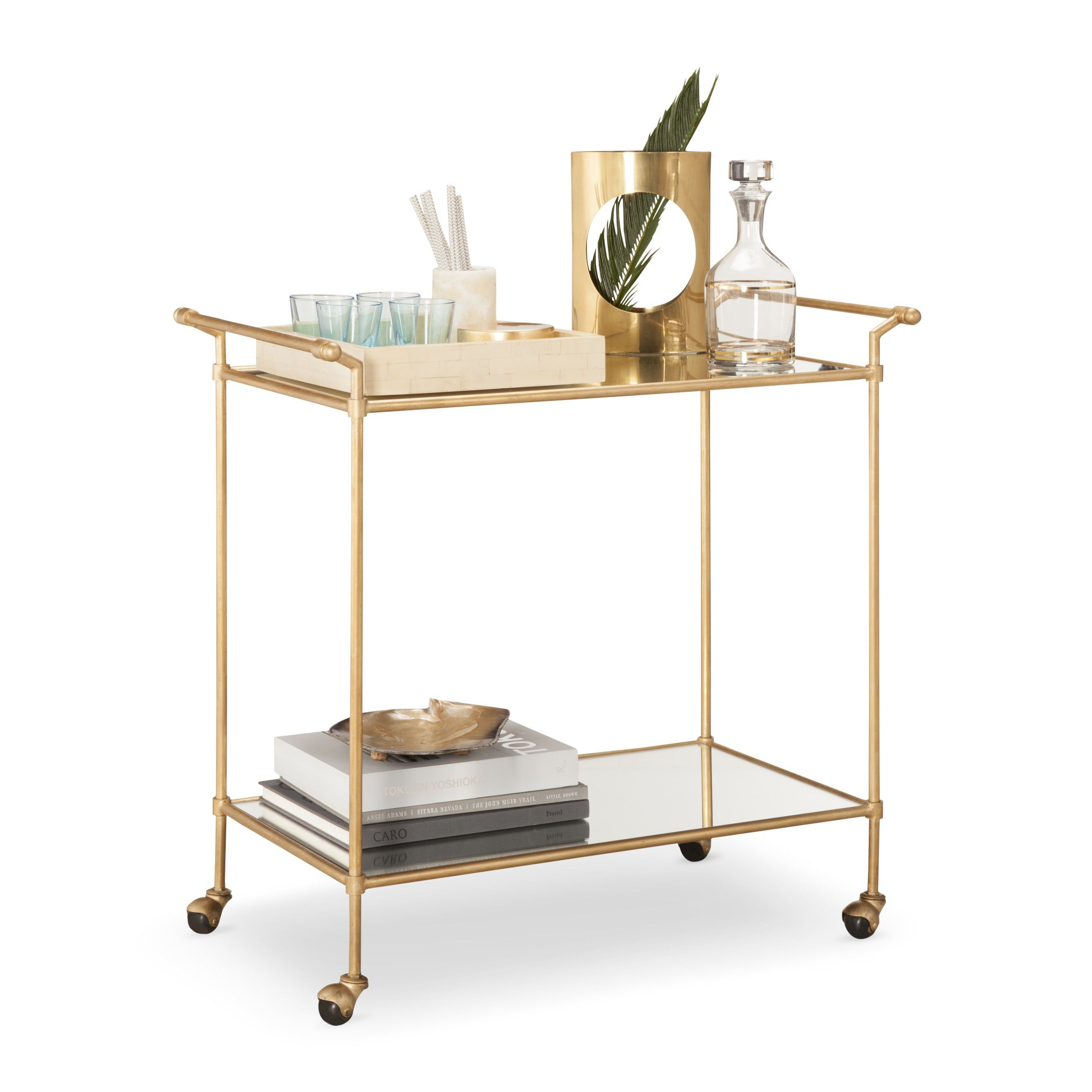 Bar Cart Metalgold  Safavieh
