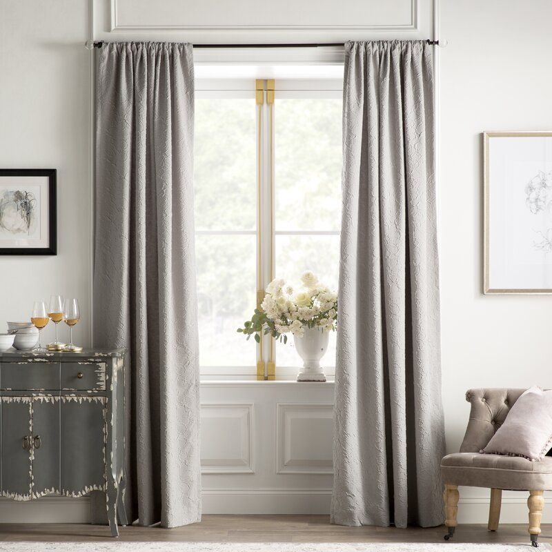Concert Solid Color Room Darkening Thermal Rod Pocket Single Curtain Panel In 2021 Panel Curtains Curtains Curtains Living Room