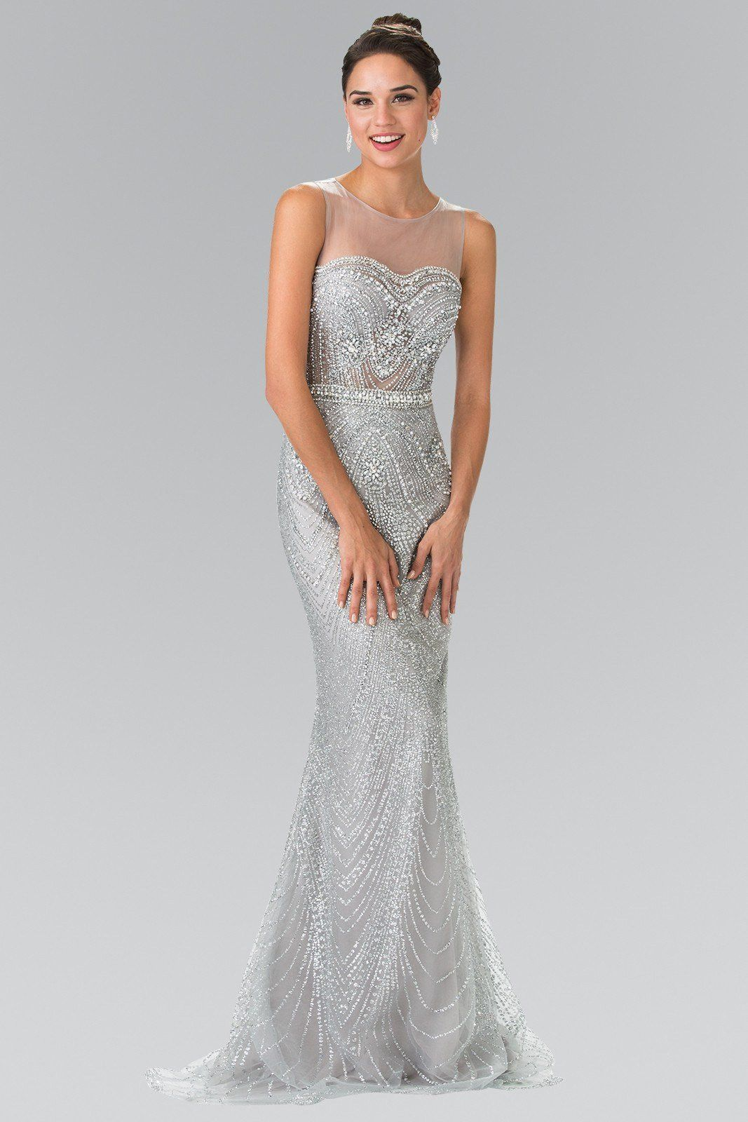 Cheap gorgeous fully beaded sequins prom dress gl products