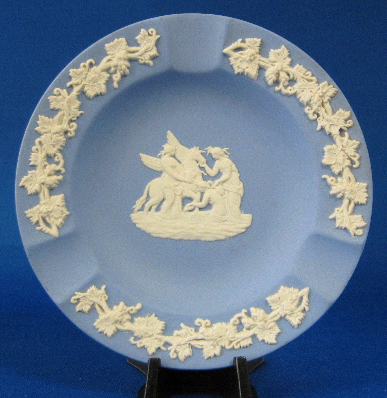 Wedgwood Blue Jasperware Ashtray Muses Watering Pegasus Tobacciana ...