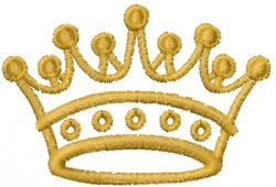 Mead Artworks Embroidery Design: Crown 1.34 inches H x 2.00 inches W