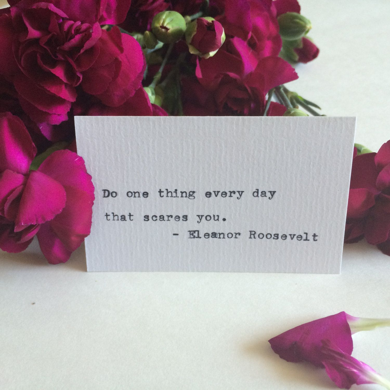 Type Writer Buisness Card: Eleanor Roosevelt by PressedBetweenPages ...