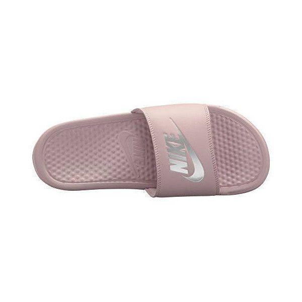 promo code 57936 fa0bd Nike Benassi Jdi Slides Flip Flops Particle rose metallic Silver... ( 85