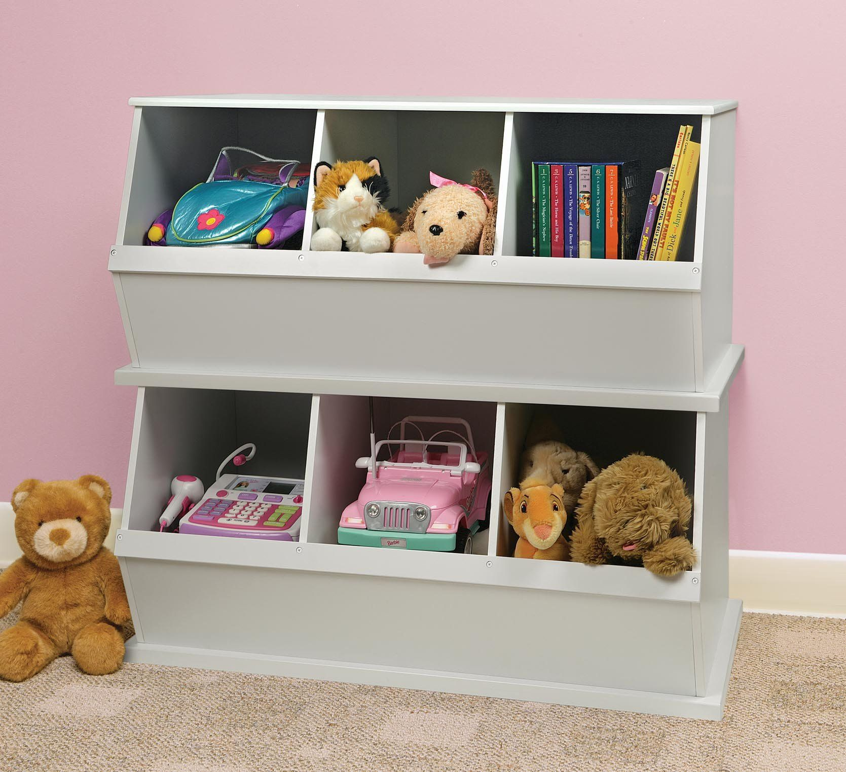 Superior Amazon.com : Three Bin Storage Cubby   White : Childrens Storage Furniture  : Baby