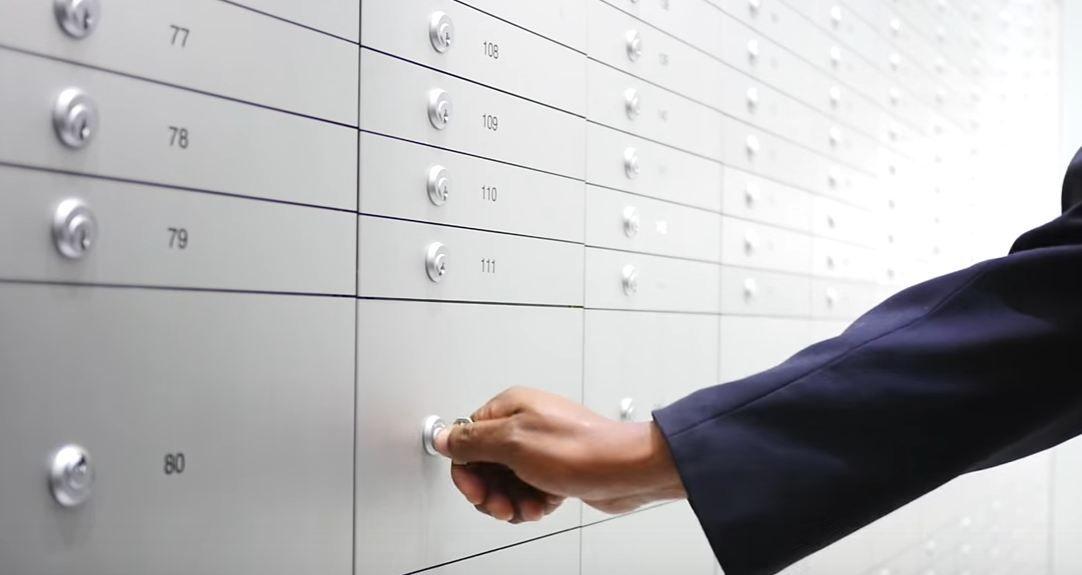 Safe deposit box bank photos