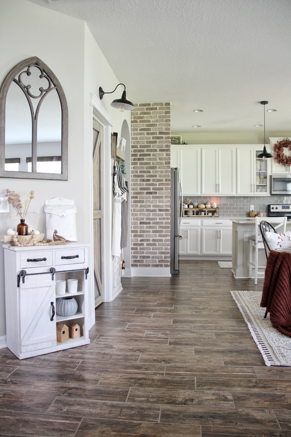 Brickwebb Accent Wall: See How the Newbuild Newlyweds Used Old Mill Brick to Make a Statement in Their Kitchen. | Blogs for Best Home Decor Using Thin Bricks | Old Mill Brick