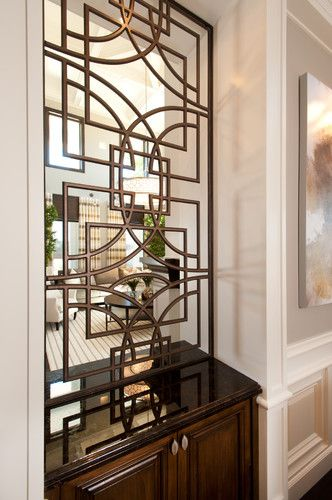 Custom hand forged iron screens used as room dividers My place of