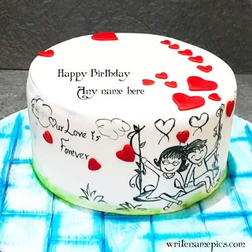 Outstanding Love Birthday Cake Images With Name Happy Birthday Cake With Name Funny Birthday Cards Online Elaedamsfinfo