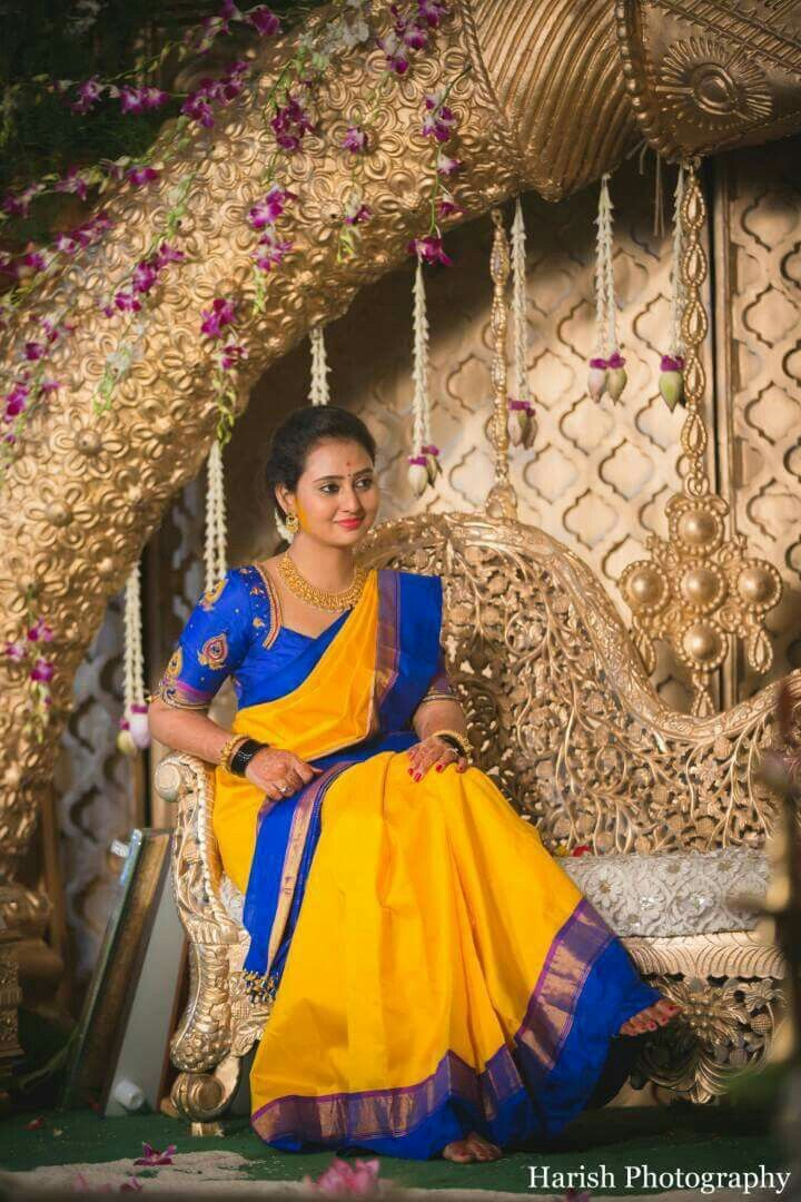 Actor amulya during her wedding | Sarees Galore in 2019 ...