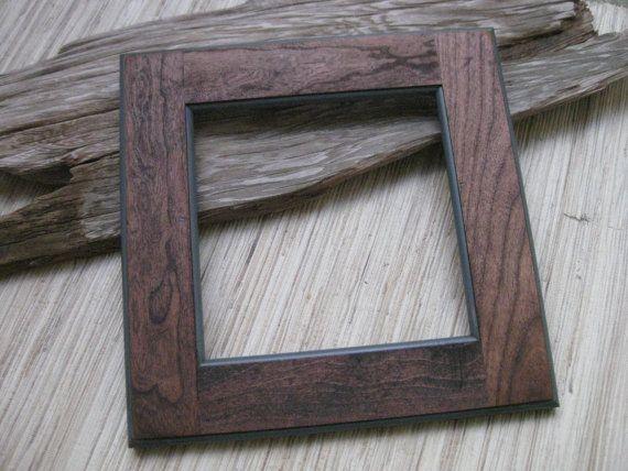 Rustic Cherry Wood Frame - Reclaimed Cabinet Door Frame - DIY photo ...
