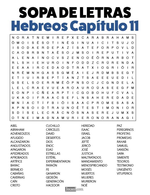 16 Hebreos Sopas De Letras De La Biblia Ideas In 2021 Words Word Search Puzzle What To Do When Bored