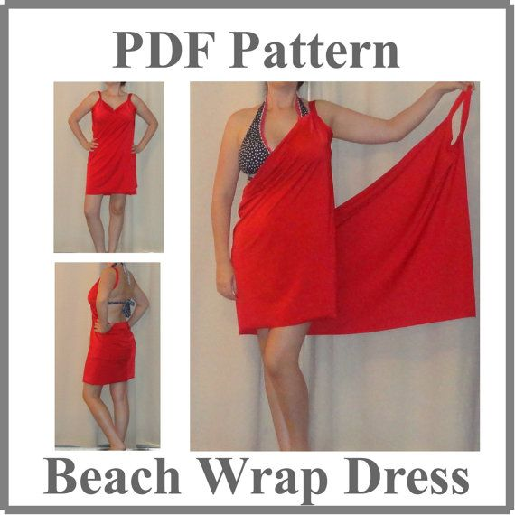 Pdf Pattern Simple Beach Cover Up Pattern 501 Sizes Small