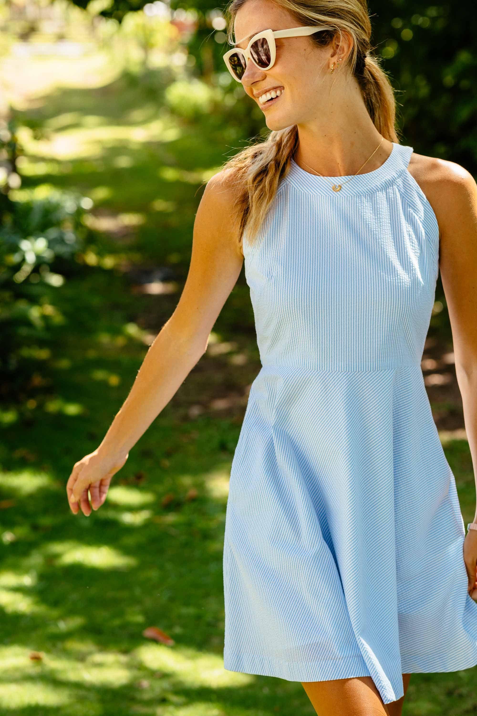 Cute Women S Dress Casual Work Dresses Cotton Blends Dress Seersucker Dress [ 3000 x 2000 Pixel ]