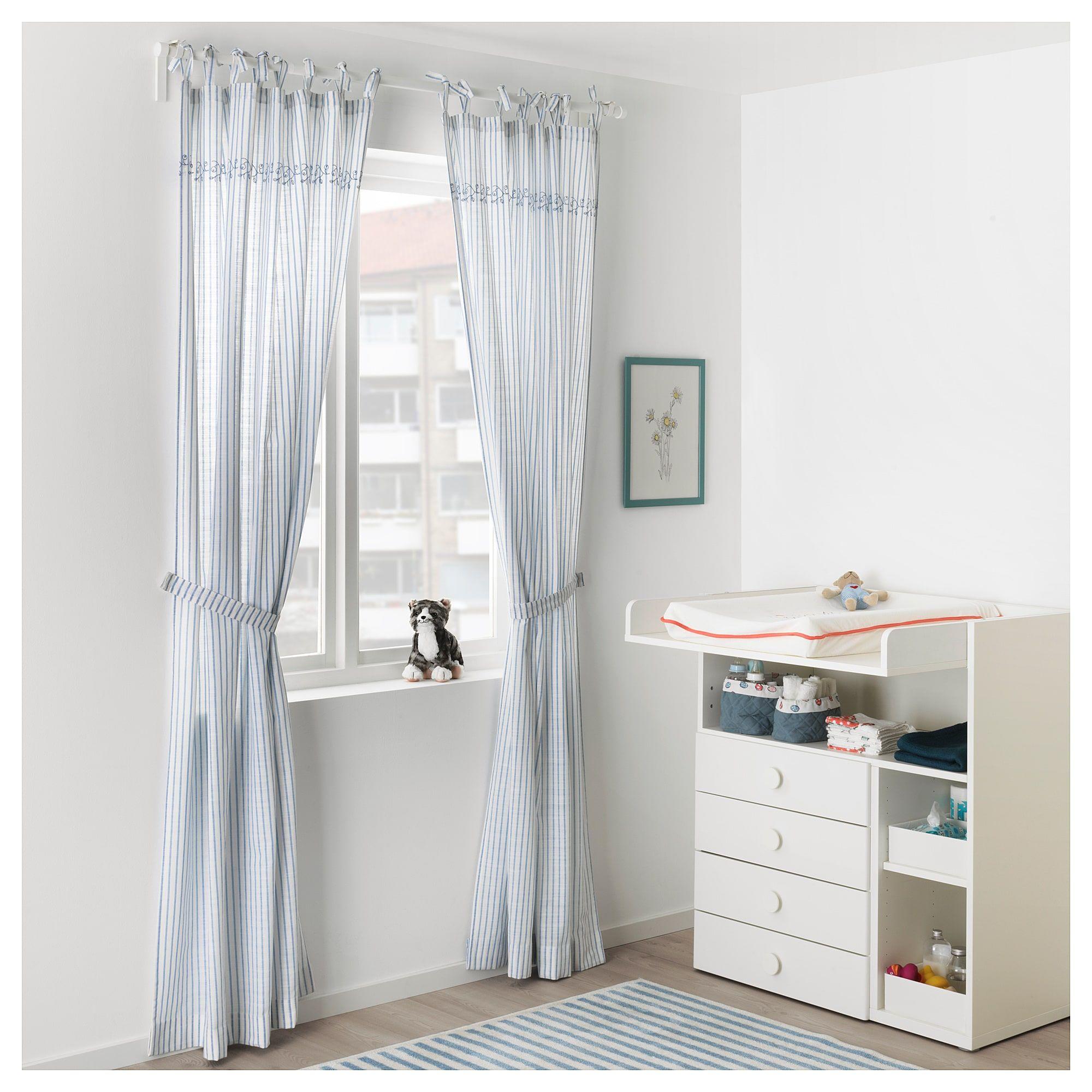 IKEA GULSPARV Curtains With Tie Backs 1