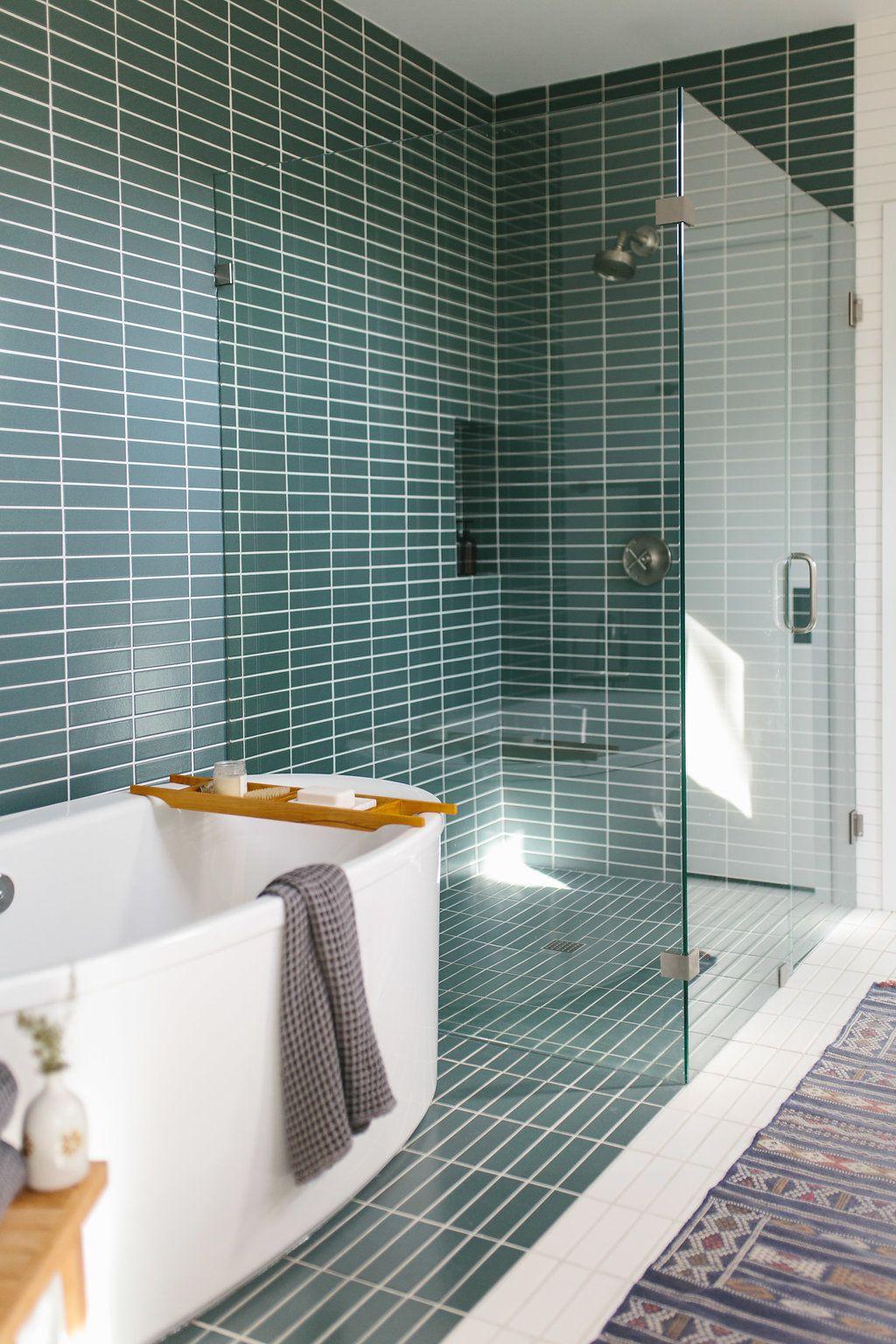 Our Austin Casa  Bathroom design  Modern master bathroom Mid century bathroom Mid century