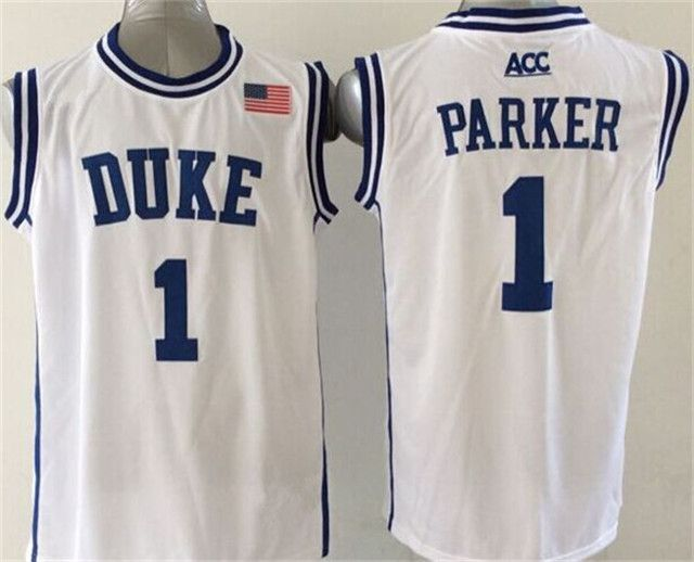 Duke Blue Devils 1 Kyrie Irving Jersey Black White Blue 1 Jabari Parker  College Jerseys Shirt Rev 30 New Material Best Quality-012 4b2717e69