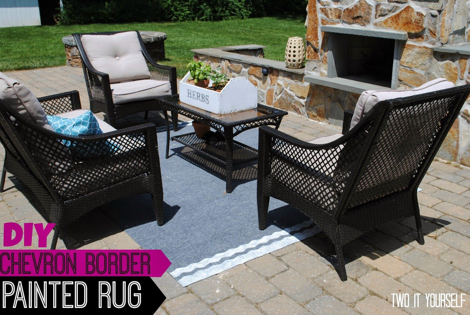 Diy monogrammed burlap garden flag and stake painted rug