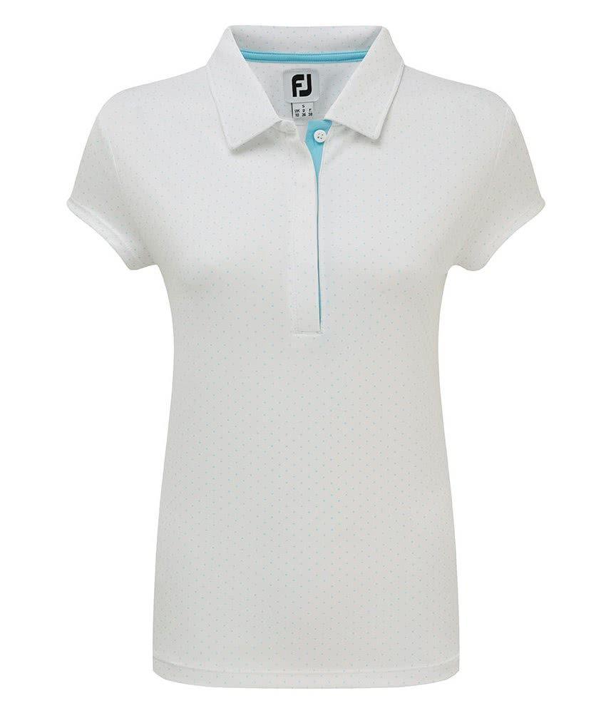 de12d4a5 FootJoy Ladies Smooth Pique Pin Dot Print Polo Shirt - Golfonline ...