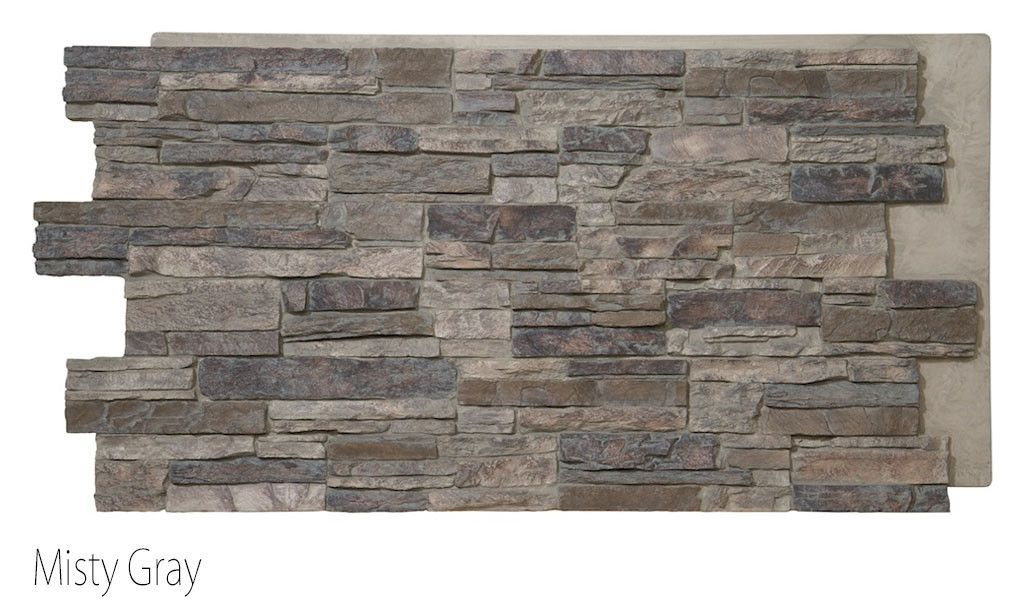 Colorado Faux Stone Panel Finished In Misty Gray Stone Panels
