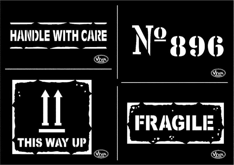 Pochoir Fragile Schablonen Druckbare Schablonen Vintage Briefmarken