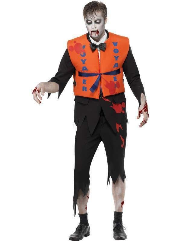 Déguisement Zombie Naufragé, M , Horreur Halloween , Homme , Déguisement  adulte , Accessoires de