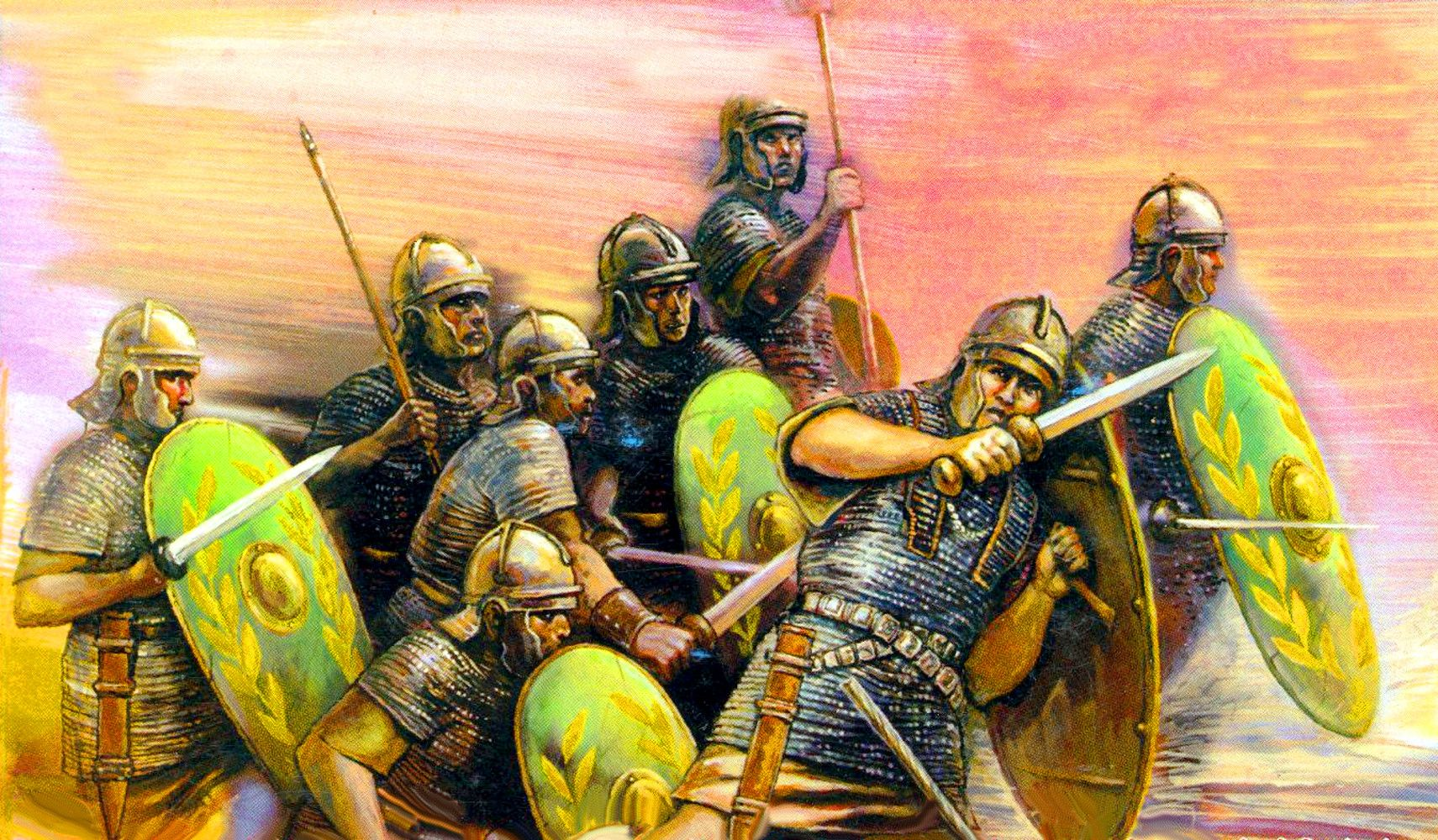 Roman Auxiliaries advancing into battle