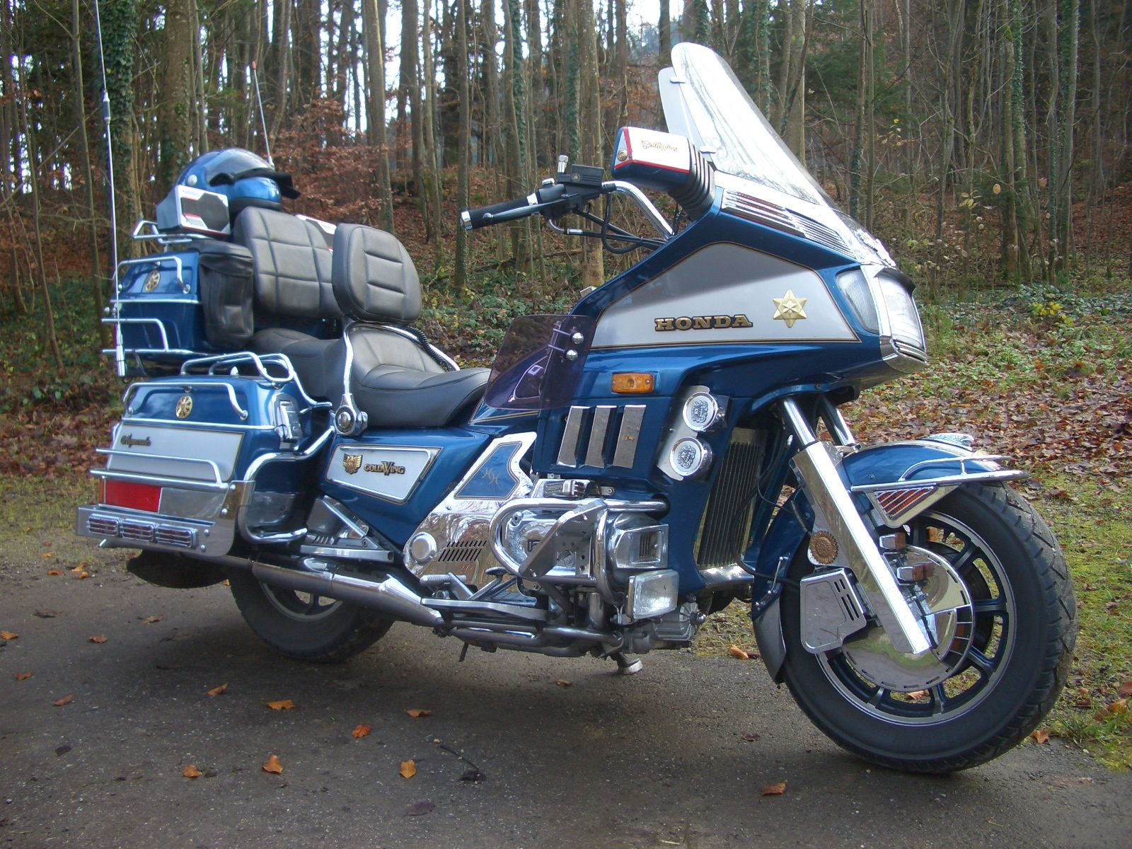 Honda Goldwing...My first serious trip(3hrs) on the back of my ...