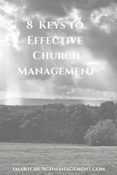Churches are unique in that they rely on donations from members and have a responsibility to be good stewards with those resources.  The ability to manage church resources effectively depends on the ministry's process of overseeing church operations.