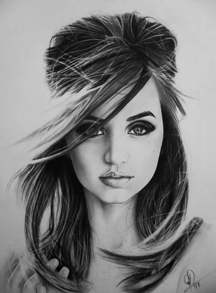 female faces pencil portrait drawing faces Art