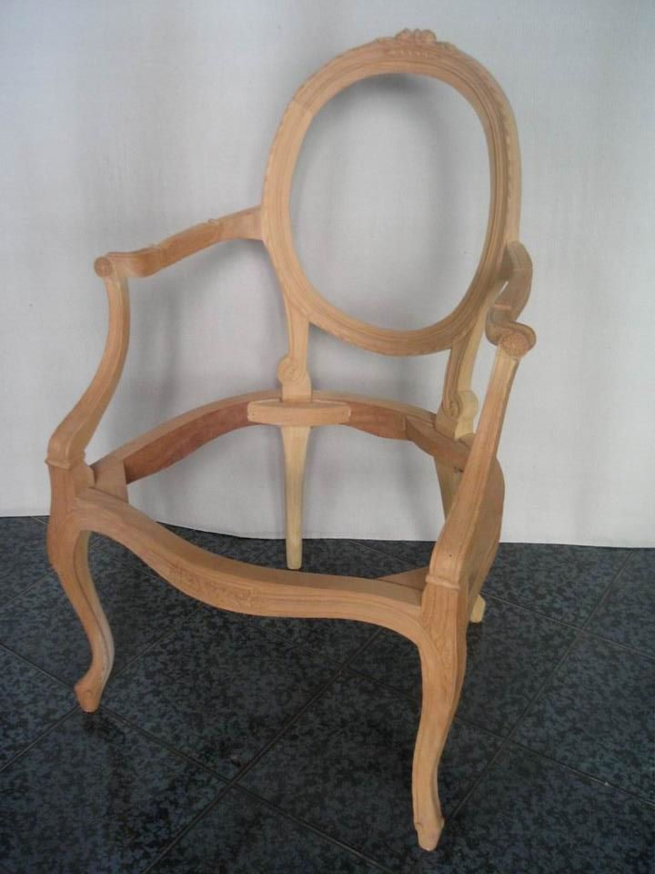 Unfinished Classic Furniture Wooden Frame Chair Mahogany Suipplier Indonesia